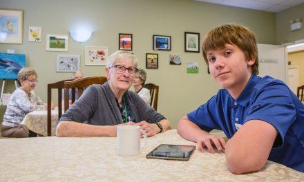 Dedicated 12-year-old volunteer brings joy to residents at Sunshine Ridge