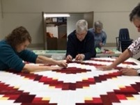 Quilters Guild holding a work bee