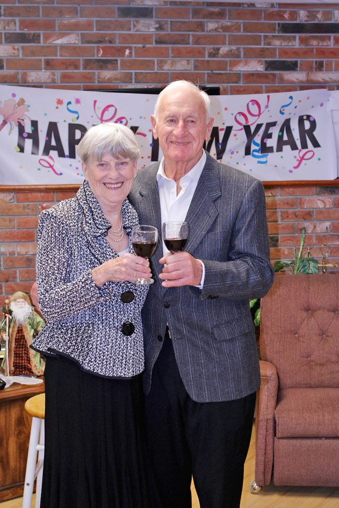 Maise and George Stefanac toast the new year. (Colin Stark photo)