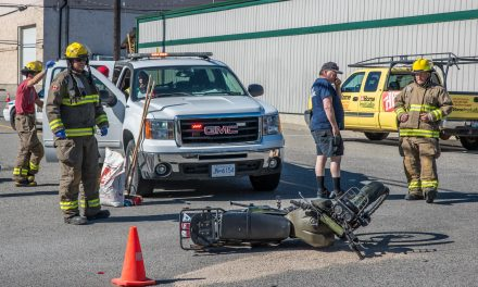 Motorcyclist struck by car in downtown Osoyoos