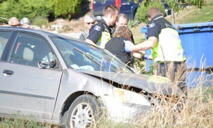 Motorist hits power pole, shuts down highway