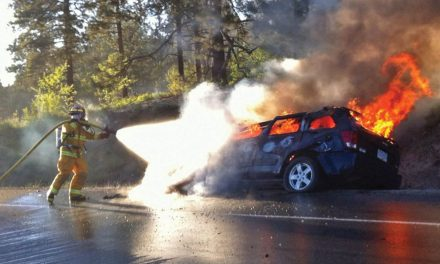 Owner of vehicle in fiery crash on Anarchist Mountain showed signs of impairment