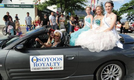 New Queen and Princesses with Osoyoos Royalty kept very busy during first month