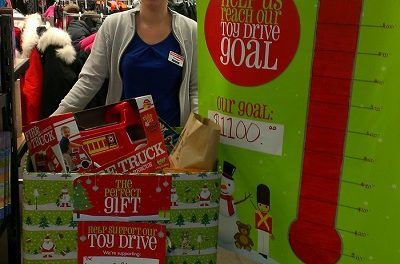 The Bargain Shop in Oliver hosting Santa, and collecting toys for Knights of Columbus