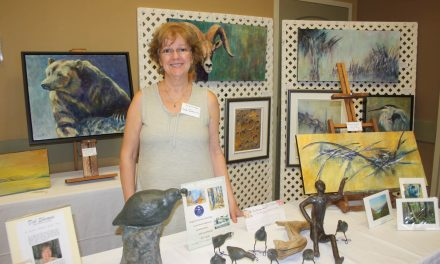 Group of six artists from Artists on Main showcasing artwork all weekend at Spirit Ridge