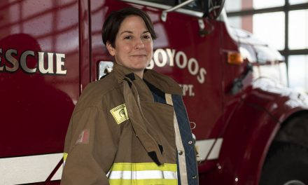 Firefighting a balancing act for OFD's first female member