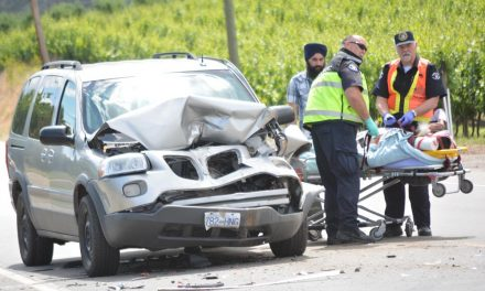 Three-vehicle collision sends two to hospital