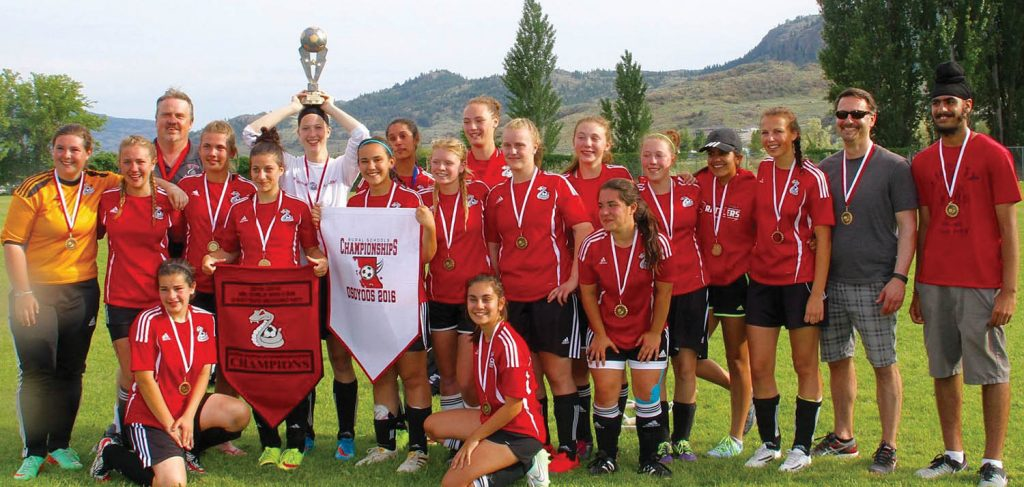 The Osoyoos Secondary School Rattlers senior girls soccer team will travel to Prince George early next week to compete in the B.C. Senior Girls 1A Soccer Championships. The Rattlers qualified for the provincial tournament after reaching the championship game at the recent Okanagan Valley regional tournament in Kelowna. (Photo supplied)