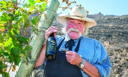 Winery owner stayed behind to protect his property