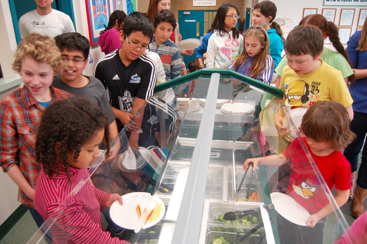 Students put their veggie trust in young chef