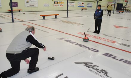 Learning to curl the proper way at the Eastlink Curling Centre