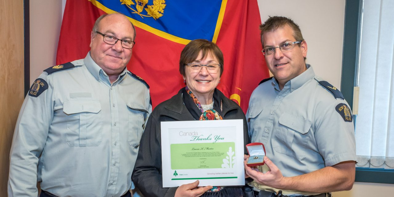 Long-time RCMP staffer honoured for years of service
