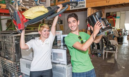Student 'ambassadors' visit Osoyoos to sell message that small electrical appliances should be recycled