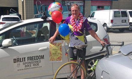 Osoyoos man bicycles to coast to raise money for India's oppressed Dalits