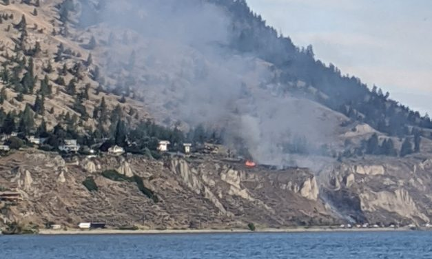UPDATE: Traffic moving slowly after fire closes Hwy 97