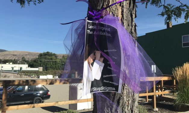 Local mothers paint Oliver purple ahead of International Overdose Awareness Day