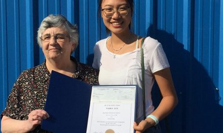 Young woman receives scholarships