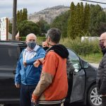 Horgan campaign makes whistle stop in Oliver