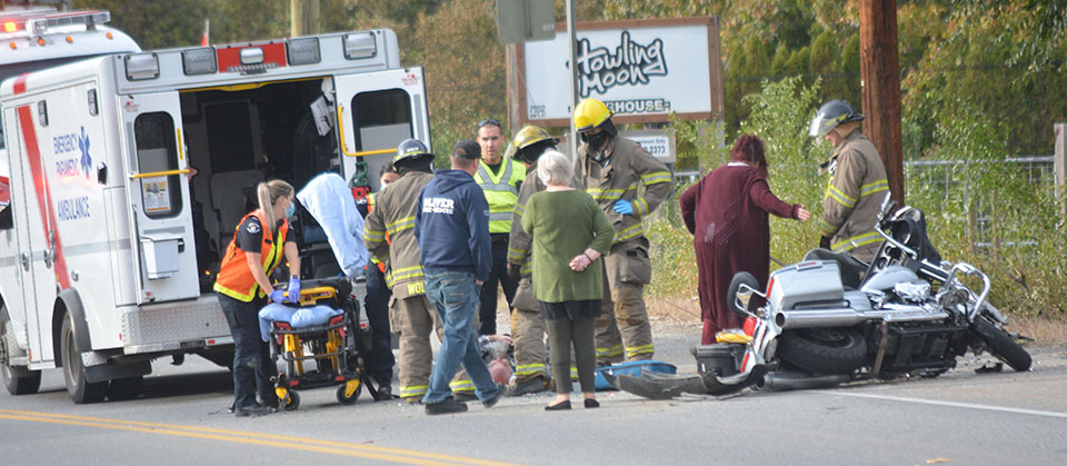 Motorcyclist injured in accident