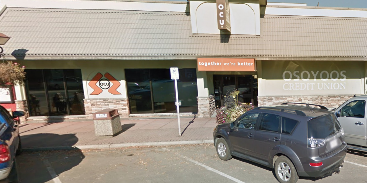 Osoyoos Credit Union closes after staff member tests positive for COVID-19